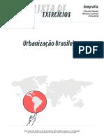 Listadeexercicios Geografia Urbanizacao Brasileira 01-06-2016
