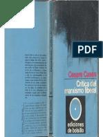 Cases, Cesare - Crítica Del Marxismo Liberal, Ed. Península, 1970