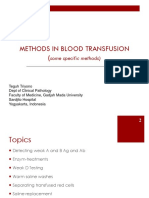 Methode in Blood Transfusion