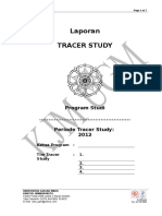 Format Laporan Tracer Study 2012