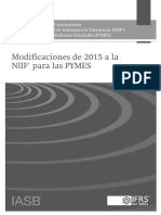 2015 Amendments to IFRS for SMEs Spanish Basis(1)