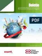 Boletín de Renovacion Urbana en Bogotá