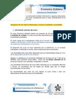Indicaciones Del Curso Economia Solidaria
