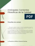 Principales Corrientes Filosoficas de La Calidad
