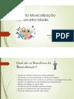 Musicalização Na Terceira Idade