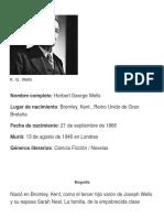 Biografia h.g.well