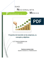 Actividad 7.- Proyectos de Inversión en Las Empresas, Su Concepto y Objetivos
