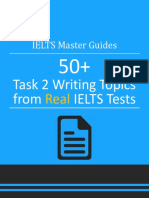 IELTS Master Guide Writing Task 2 Topics