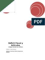 Deficit Fiscal y Artículos