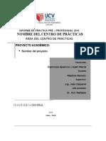 Estructura de Informe Facultad de Ingeniería 2016-i