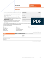 Interim Certificate Amendment