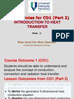 Week 2 Heat Transfer Lecture