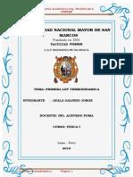 Informe Fsisca 1 Termodinamica