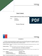 1º Medio Mat. Unidad Nº5 Datosdatos y Azar Guía Docente 2014