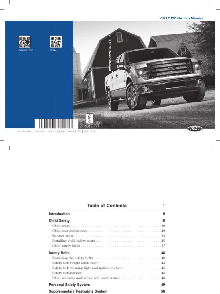 F150 Owners Manual Seat Belt Airbag 10led Bargraph Indicator Circuit Diagram Tradeoficcom
