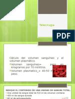 Telecirugia/ transfuciones