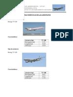 Características de Las Aeronaves