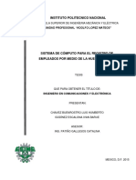 Tesis Sistema de Computo Para El Registro de Empleados Por Medio de La Huella Digital