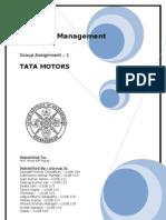 Strategic Management short Project for Tata Motors