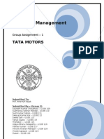 Strategic Management short Project for Tata Motors