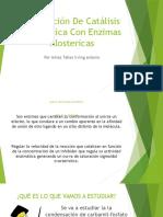 Modelación de Catálisis Enzimática Con Enzimas Alostericas