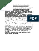 Top 10 Puntos de Acupresión Para Aliviar Dolores Corporales y Otros Problemas