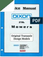 Dixon ZTR service Manual