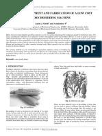 Design, Development and Fabrication of a Low Cost Corn Deseeding Machine