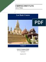 Lao Basic Course - Volume 2