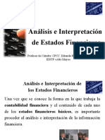 Presentacion de Analisis e Interpretacion de Estados Financieros