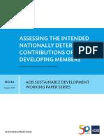 NAMAs and INDCs Training_ADB SD Working Paper Series_Assessing INDCs of ADB Developing Members