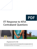 ITT Response to NTIA Contraband Cell Phone Questions