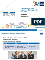 Hydrogen and Fuel Cells Training_3 - C Mcnaught - Hydrogen in Energy Systems & Synergies With Transport