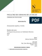 Monografía-discapacidad Cognitiva y Familia