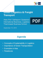Green Freight Training_01 - S Opasanon - Green Logistics and Freight Transport