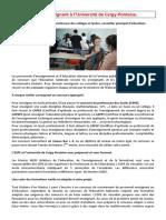 Devenir Enseignant à l'UCP - Version 2015