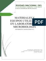 Informe 02_materiales y Equipos Utilizados en Microbiología