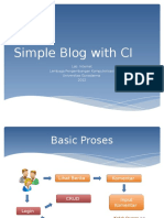 Simple Blog With CI New