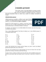 Alfabetul Şi Pronunţia Germană
