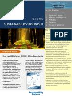 Sustainability Roundup Jul 2016