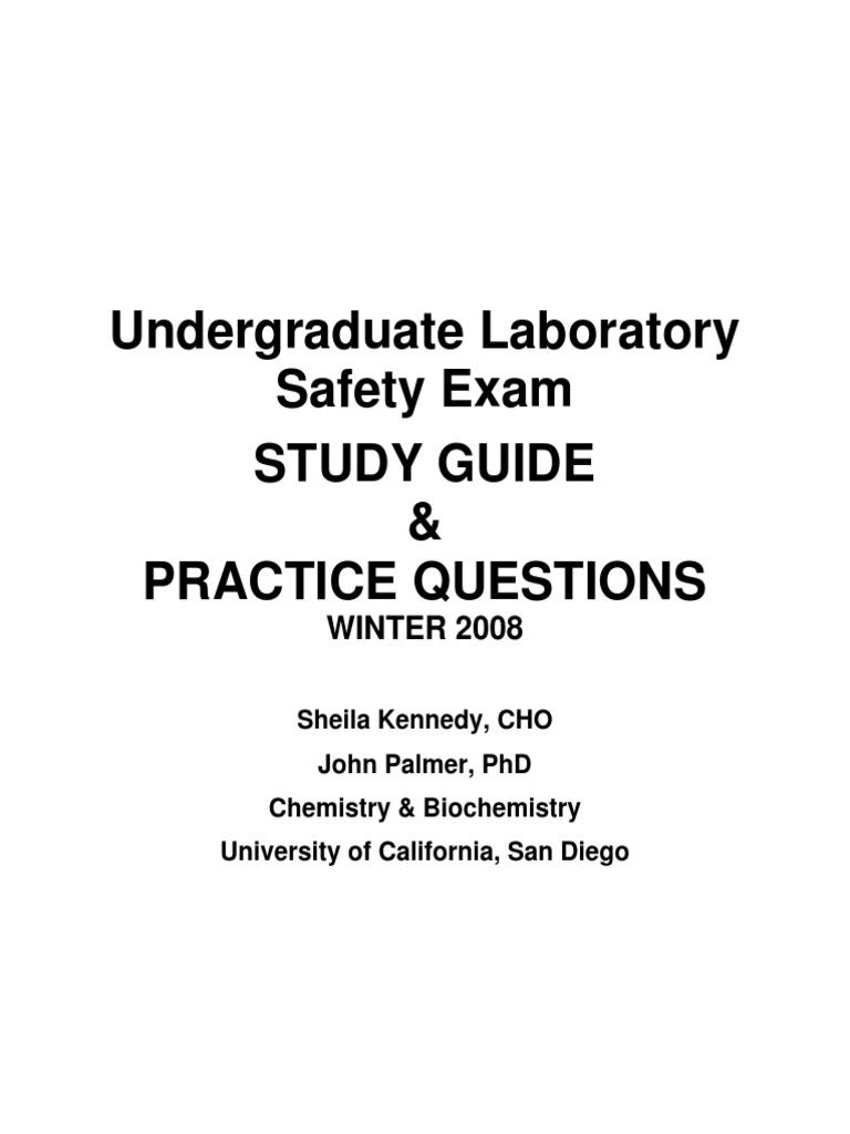 Undergraduate Laboratory Safety Exam Study Guide