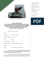 Contoh Surat Pernyataan Setia Pancasila Dan UUD 1945