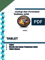 2 BAB I, II, III Formulasi Sediaan Solid Tablet