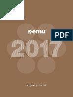Emu 2017 Pricelist EXW En