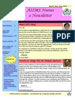 AIIMS Nurses e-newsletter