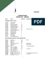 MS2040 Constitution Parts List