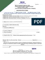 Registration Form_2016 Conf_ Chittagong