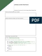 Laporan Akhir Praktikum 2 (Metode Regula Falsi)