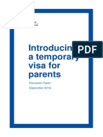 Parent Visa Discussion Paper (September 2016)