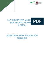 Ley Educativa Mejorada San Pelayo Alameda